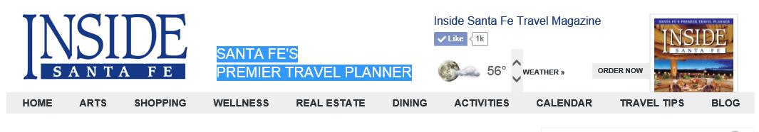 Inside Santa Fe's Home Page Navigation