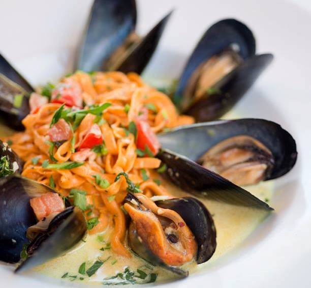 Mussels at il Piatto Italian Farmhouse Kitchen in Santa Fe. Photo courtsey of il Piatoo