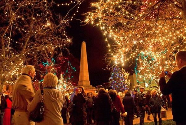 Holiday Lighting on the Santa Fe Plaza | Inside Santa Fe